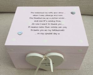 Shabby Personalised chic Bridesmaid Sister To Be Sister In Law Wedding Gift Box - 252753321577